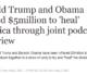 500万美元 能买特朗普与奥巴马这俩死对头聚首?
