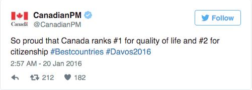 全球最佳国家排名 加拿大第二中国第17