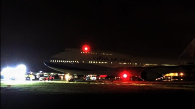 中华航空班机滑出温哥华跑道 无人伤