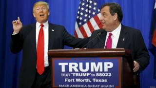美国大选:克里斯蒂宣布支持特朗普竞选总统