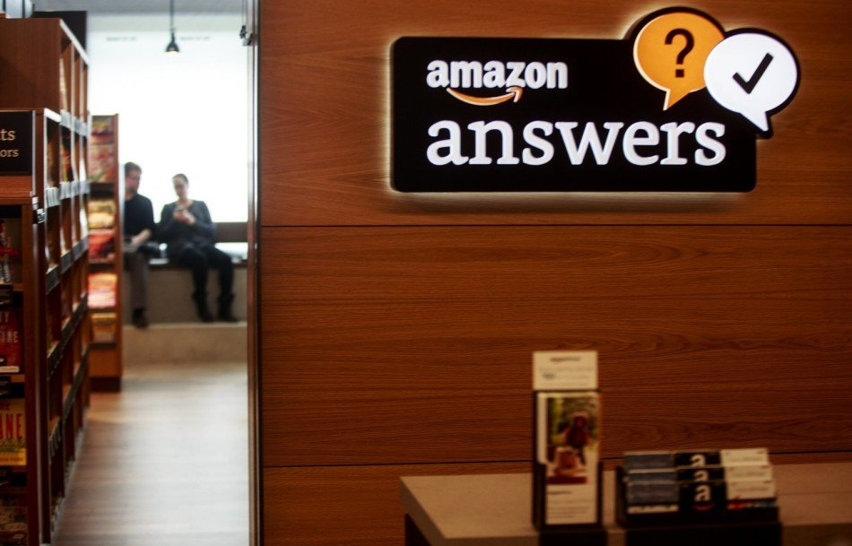 Amazon Books, the company's first brick-and-mortar store, will open tomorrow Tuesday, Nov. 3, 2015 in Seattle's University District. The store offers an answer desk in the store.
