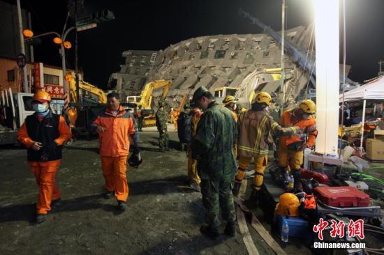 台南地震倒塌大楼8日已救出2人 陆续发现生还者
