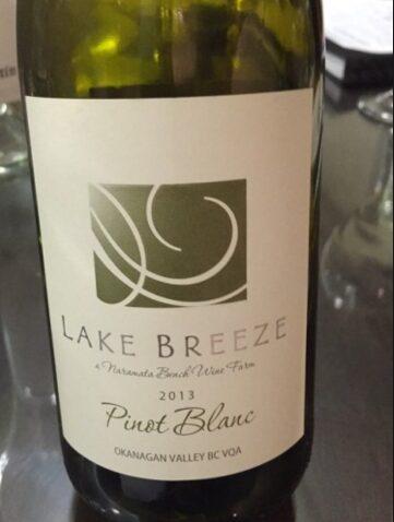 Lake Breeze. Pinot Blanc.