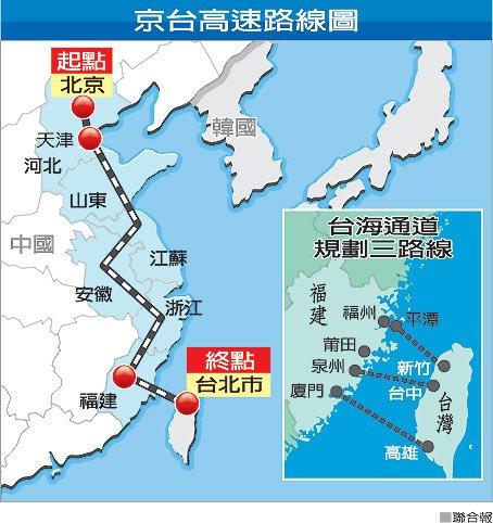 京福台高鐵-路線圖