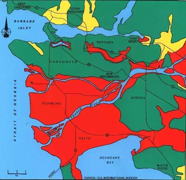 哥华附近又发现了一条地壳断层 地震风险大增?