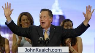美国大选:卡西奇赢得俄亥俄州续战特朗普