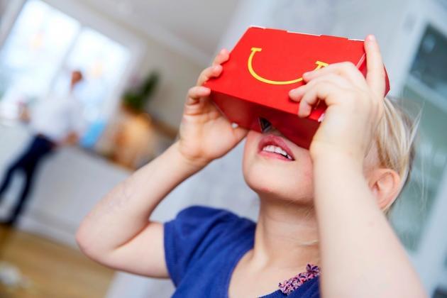 麦当劳推出餐盒版VR眼镜