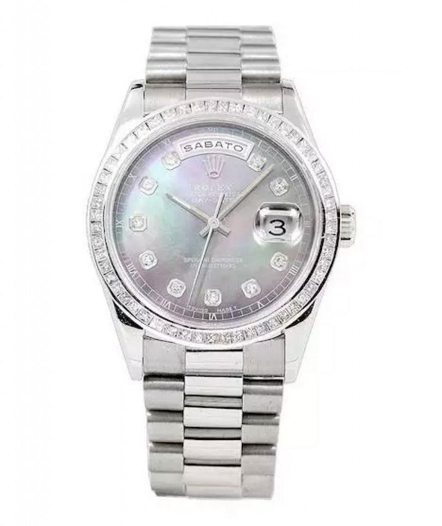 劳力士18K白金president总统型腕表