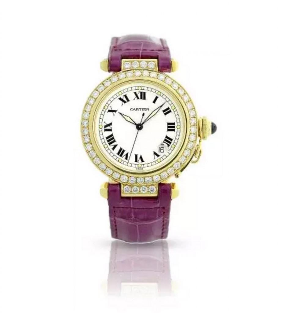卡地亚Pasha钻石腕表