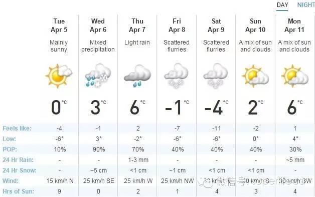 4月一场暴雪把多伦多给埋了!别不淡定,厉害的极寒大雪本周三又来了