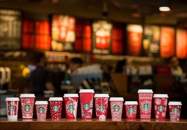 星巴克推出2016圣诞季纸杯 颜值爆表