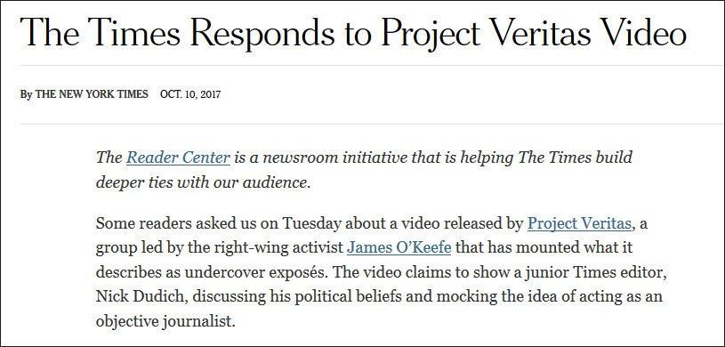 纽约时报被抓歪曲特朗普报道 女卧底套路防不胜防