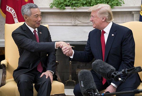 """李显龙访美吃下""""定心丸"""":特朗普仍在发展亚洲政策"""
