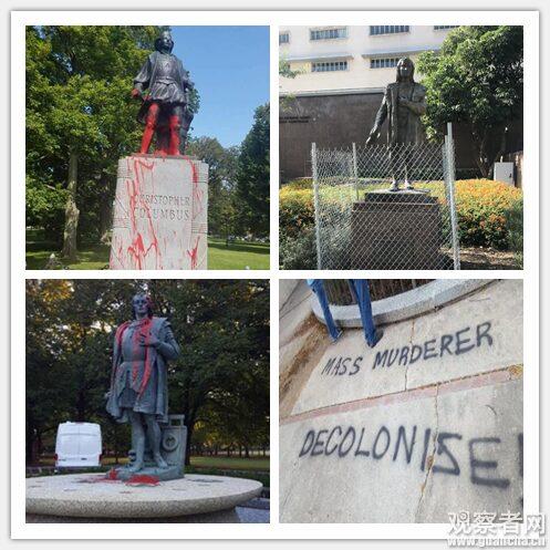 """破坏雕像、议会表决 美国社会想废除""""哥伦布日"""""""