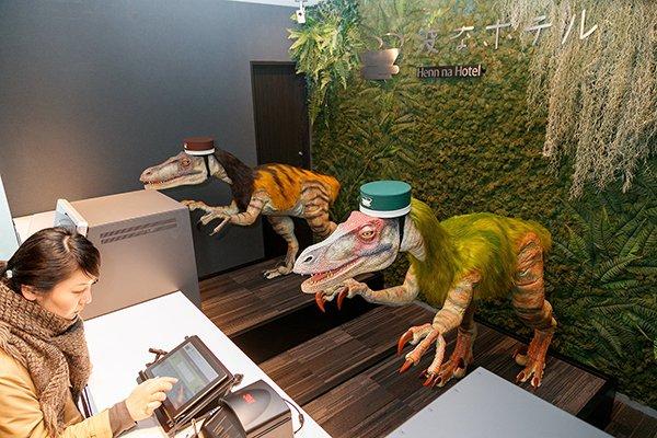 日本要开更多机器人酒店 前台可能是系领结机器恐龙