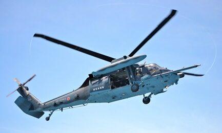 日本自卫队一直升机失踪 海上现散落零件恐已坠毁