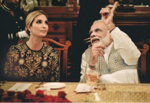 印度电视频道闹乌龙 直播莫迪与伊万卡晚宴监控