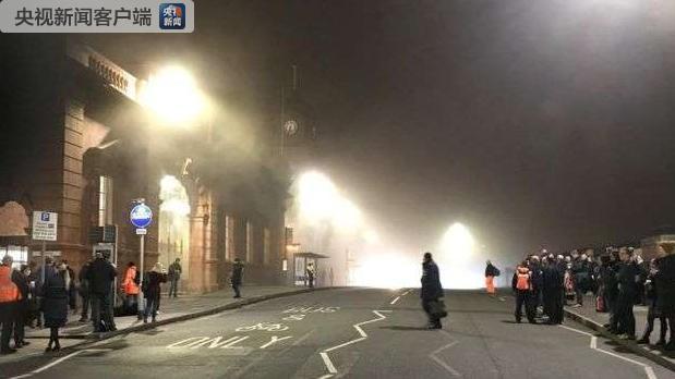 英国诺丁汉火车站发生大火
