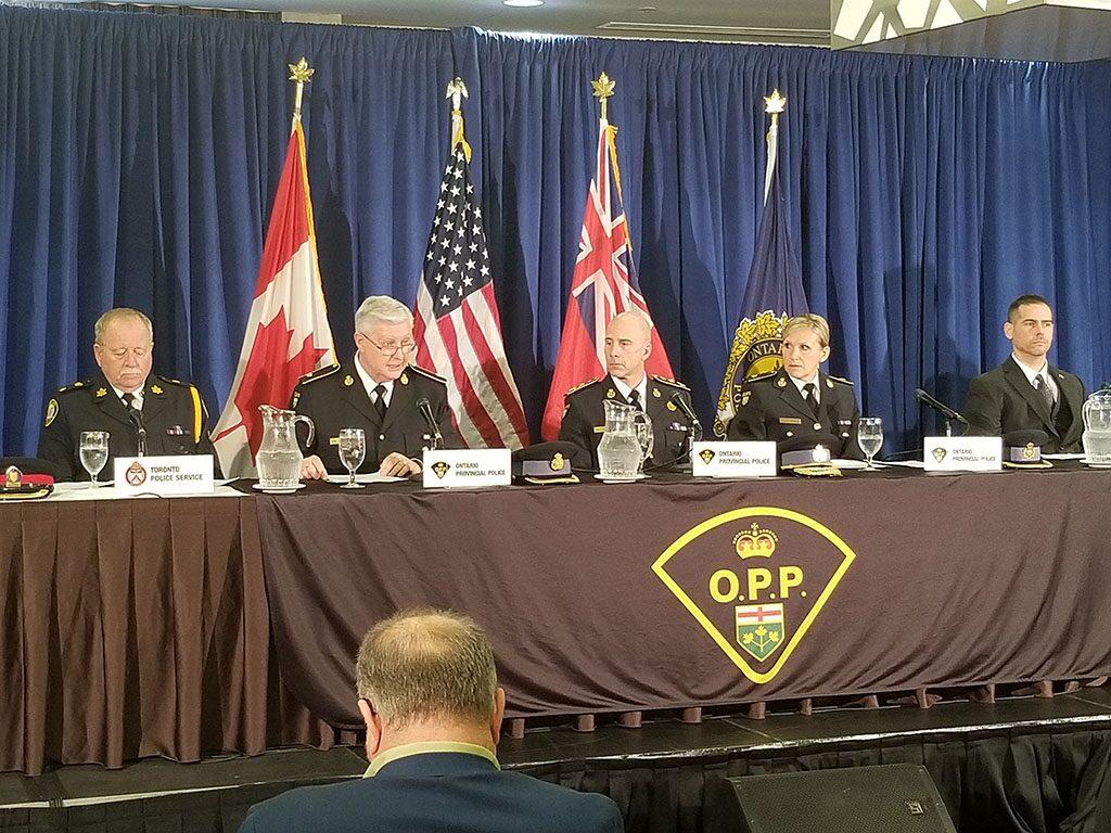 省警局召开的新闻发布会 图片来源: OPP News